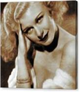 Ginger Rogers, Actress Canvas Print