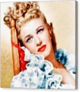 Ginger Rogers By John Springfield Canvas Print