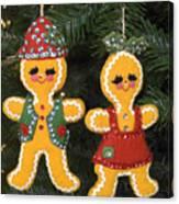 Gingerbread Christmas Ornaments Canvas Print