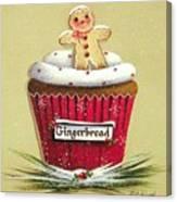 Gingerbread Cookie Cupcake Canvas Print