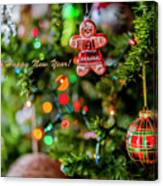 Gingerbread Man With Happy New Year 4350 Canvas Print