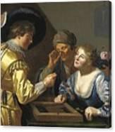 Giocatori Di Backgammon Canvas Print