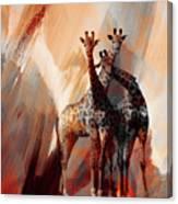 Giraffe Abstract Art 002 Canvas Print