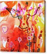 Giraffe Delightful Deborah Canvas Print
