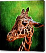 Giraffe Fractal Canvas Print