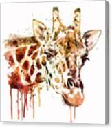 Giraffe Head Canvas Print