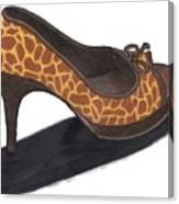 Giraffe Heels Canvas Print