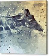 Giraffe Poly Canvas Print