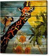 Giraffe Rustic Canvas Print