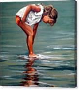 Girl At Shore  Canvas Print