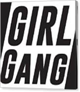 girl gang minimalist print black and white digital art by studio