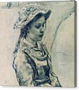 Girl Hell 1882 Ilya Repin Canvas Print