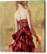 Girl In A Copper Dress II Canvas Print