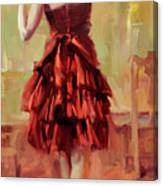 Girl In A Copper Dress IIi Canvas Print