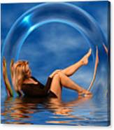 Girl In Glass Ring C150430 Canvas Print