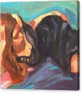Girl In Repose Canvas Print