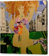 Girl In The City Canvas Print