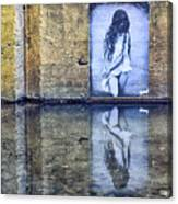 Girl In The Mural Canvas Print