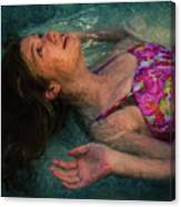 Girl In The Pool 11 Canvas Print