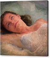 Girl In The Pool 8 Canvas Print