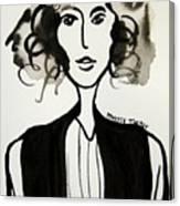 Girl In Vest Canvas Print