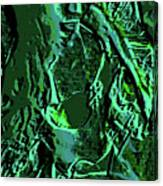 Girl Of Green Canvas Print