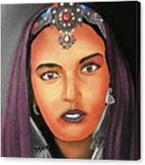 Girl Of Morocco Canvas Print