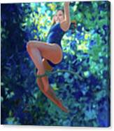 Girl On A Rope Canvas Print