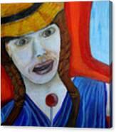 Girl On A Train Canvas Print