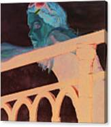 Girl On The Rail Canvas Print