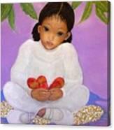 Girl Sitting Under Mango Tree Canvas Print