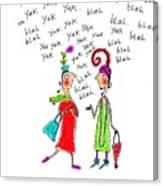 Girl Talk Canvas Print