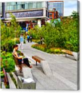 Girl Uninterrupted On The High Line Canvas Print