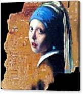Girl With Capicitor Canvas Print
