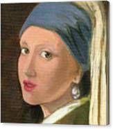 Girl With Pearl Earring Of Vermeer Canvas Print