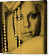 Girl With Pearls II Canvas Print