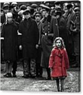 Girl With Red Coat Publicity Photo Schindlers List 1993 Canvas Print