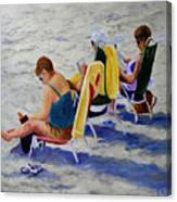 Girls Day At  The Beach Canvas Print