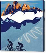 Giro D'italia Cycling Poster Canvas Print