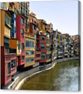 Girona Riverfront Canvas Print