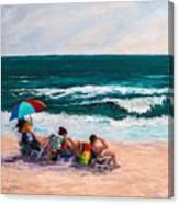 Girsl On The Beach Canvas Print