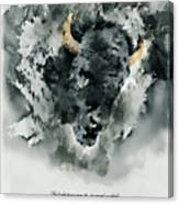 Give Thanks Colorado Watercolor Canvas Print