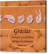Give Thanks Spanish Canvas Print
