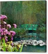 Giverny Bridge Canvas Print