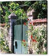 Giverny Gate Canvas Print