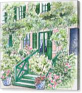 Giverny Welcome Canvas Print