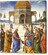 Giving Of The Keys To Saint Peter Canvas Print