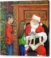 Giving The List To Santa Canvas Print