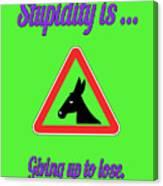 Giving Up Bigstock Donkey 171252860 Canvas Print