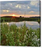 Glacial Park Sunrise On The Nippersink Canvas Print